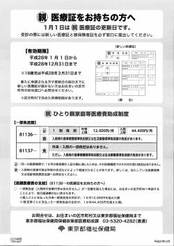 東京都マル親医療助成ポスター